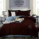 cheap Solid Duvet Covers-Duvet Cover Sets Solid Colored Poly / Cotton Reactive Print 4 Piece
