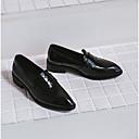 זול נעלי עקב לנשים-בגדי ריקוד נשים נעליים עור פטנט אביב / קיץ נוחות נעליים ללא שרוכים עקב נמוך בוהן מחודדת שחור