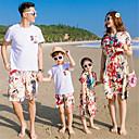 ieftine Set Îmbrăcăminte De Familie-Familie Uite Mată Manșon scurt Set Îmbrăcăminte