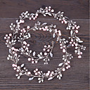cheap Party Headpieces-Imitation Pearl / Copper wire Headbands / Headpiece / Head Chain with Acrylic / Faux Pearl 1pc / 1 Piece Wedding Headpiece