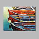 ieftine Picturi în Ulei-Hang-pictate pictură în ulei Pictat manual - Abstract / Peisaj Contemporan / Modern pânză