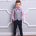 זול סטים של ביגוד לבנים-בנים פעיל / בסיסי כותנה מכנסיים - אחיד ורוד מסמיק 100 / Party / חגים