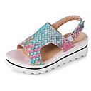 ieftine Sandale de Damă-Pentru femei Pantofi PU Primavara vara Pantof cu Berete Sandale Toc Platformă Vârf deschis Cataramă Galben / Rosu / Albastru