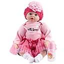 זול בובות-FeelWind בובה מחדש תינוקות בנות 22 אִינְטשׁ כְּמוֹ בַּחַיִים עבודת יד בטוח לשימוש ילדים Non Toxic אינטראקציה בין הורים לילד יד מושרשת הילד של בנות צעצועים מתנות / שתל מלאכותי עיניים כחולות