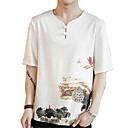 preiswerte Edelstahl-Herrn Blumen - Chinoiserie T-shirt Druck