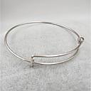 baratos Braceletes-Mulheres Bracelete Pulseira - Aço Inoxidável senhoras, Metálico, Simples, Fashion Pulseiras Jóias Prata / Cinzento / Ouro Rose Para Presente Diário