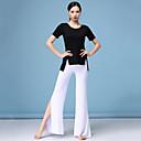 economico Abbigliamento sportivo da ballo-Danza del ventre Completi Per donna Addestramento Modal Con spacco Manica corta Cadente Top / Pantaloni