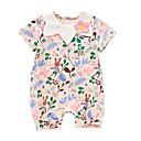 ieftine Set Îmbrăcăminte Bebeluși-Bebelus Fete Activ Floral Mânecă scurtă Bumbac O - piesă