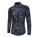 billige Fiskekroge-Herre - Blomstret Bomuld Skjorte / Vælg venligst én størrelse over din normale størrelse. / Langærmet