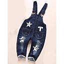 ieftine Pantaloni Băieți-Bebelus Băieți De Bază Zilnic Imprimeu Imprimeu Bumbac / Poliester Salopetă Albastru piscină / Copil