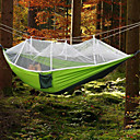 cheap Sleeping Bags & Camp Bedding-Camping Hammock with Mosquito Net Outdoor Portable, Moistureproof, Well-ventilated Spinning Cotton for Camping / Hiking / Hunting / Hiking