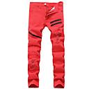 tanie Pianki, skafandry i koszulki-Męskie Aktywny / Podstawowy Bawełna Szczupła Jeansy / Typu Chino Spodnie Solidne kolory