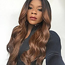 cheap Human Hair Wigs-Remy Human Hair Lace Front Wig style Brazilian Hair Wavy Body Wave Ombre Wig 130% Density Ombre Women's Long Human Hair Lace Wig beikashang