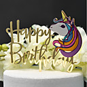 cheap Cake Toppers-Cake Topper Classic Theme / Wedding Cut Out Acryic / Polyester Birthday with Acrylic 1 pcs PVC Box