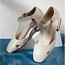 povoljno Ženske cipele s petom-Žene Cipele Mekana koža Proljeće ljeto Udobne cipele Natikače i mokasinke Niska potpetica Zatvorena Toe Crn / Bež