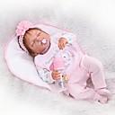 povoljno Lutkice-NPKCOLLECTION Autentične bebe Za ženske bebe 24 inch Cijeli silikon tijela Silikon Vinil - vjeran Dječjom Djevojčice Igračke za kućne ljubimce Poklon