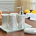 ieftine Soap Dispensers-Set Accesorii Baie Model nou / Creative / Multifuncțional Contemporan Lemn 6pcs - Baie Single