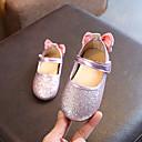 ieftine Pantofi Fetițe-Fete Pantofi PU Primavara vara Confortabili / Pantofi Fata cu Flori Pantofi Flați Plimbare Funde / Paiete pentru Copii Auriu / Argintiu / Roz