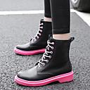 ieftine Flip-Flops de Damă-Pentru femei Pantofi PU Iarnă Confortabili Oxfords Toc Jos Alb / Negru