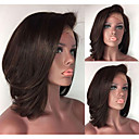 cheap Synthetic Lace Wigs-Synthetic Wig / Synthetic Lace Front Wig Straight Short Bob Synthetic Hair Adjustable / Heat Resistant / Women Dark Brown Wig Women's Short Lace Front Dark Brown Modernfairy Hair / Yes