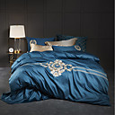 cheap High Quality Duvet Covers-Duvet Cover Sets Bohemian / Contemporary 100% Cotton / 100% Egyptian Cotton Embroidery 4 Piece