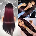 cheap Human Hair Wigs-Remy Human Hair Lace Front Wig Brazilian Hair Straight Wig Middle Part 130% Hair Density Women's Long Human Hair Lace Wig