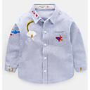 ieftine Top Bebeluși-Bebelus Băieți De Bază Geometric Manșon Lung Poliester Cămașă Albastru piscină 100 / Copil