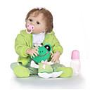 ieftine Păpuși-NPKCOLLECTION Păpuși Renăscute Bebe Fetiță 24 inch Solid silicon din corp / Vinil - natural, Artificial Implantation Blue Eyes Lui Kid Fete Cadou