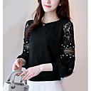 זול תכשיטי גוף-חולצת נשים - צוואר בצבע מלא