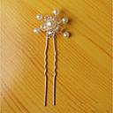tanie Imprezowe nakrycia głowy-Stop Szpilka do włosów z Akrylowy / Sztuczna perła 1 szt. Ślub / Impreza / bal Winieta