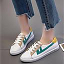 povoljno Ženske klompe i klompe na petu-Žene Cipele Mekana koža Proljeće ljeto Udobne cipele Sneakers Ravna potpetica Zatvorena Toe Dark Blue / Bijela