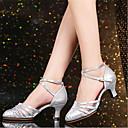 זול נעליים מודרניות-בגדי ריקוד נשים נעליים מודרניות פוליאסטר עקבים עקב קובני מותאם אישית נעלי ריקוד כסף / אדום / חאקי