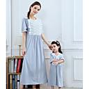 ieftine Set Îmbrăcăminte De Familie-Mama și cu mine De Bază Mată Manșon scurt Rochie