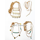 cheap Rings-Women's Layered / Lasso Choker Necklace - Vintage, Multi Layer Gold 42 cm Necklace 4pcs For Gift, Street