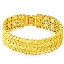 olcso Férfi gyűrűk-Férfi Vastag lánc Lánc & láncszem karkötők - Leaf Shape Luxus, Vintage, Divat Karkötők Arany Kompatibilitás Napi Szabadság
