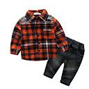 ieftine Set Îmbrăcăminte Băieți Bebeluși-Bebelus Băieți De Bază Imprimeu Manșon Lung Scurt Set Îmbrăcăminte / Copil