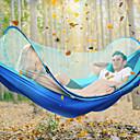 ieftine Dispozitiv de îngrijire a feței-Hamac Camping cu Plasă de Țânțari În aer liber Ușor Ripstop de Înaltă Densitate pentru Drumeție / Camping - 2 persoane Albastru Închis / Verde Închis