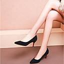 זול נעלי עקב לנשים-בגדי ריקוד נשים נעליים סוויד אביב נוחות עקבים עקב סטילטו שחור / אפור / ירוק