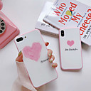 levne iPhone pouzdra-Carcasă Pro Apple iPhone X / iPhone 7 Prachuodolné Zadní kryt Slovo / citát / Srdce Pevné Silikon pro iPhone X / iPhone 8 Plus / iPhone 8