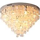 billige Taklamper-QIHengZhaoMing 10-Light Takplafond Omgivelseslys galvanisert Krystall Skall 110-120V / 220-240V Varm Hvit Pære Inkludert