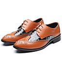 billige Sykkeljerseys-Herre Formell Sko Syntetisk Høst Oxfords Svart / Gul / Brun / Bryllup / Novelty Shoes
