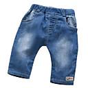 billige BabyGutterdrakter-Baby Gutt Grunnleggende Ensfarget Bomull Jeans