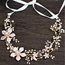 billige Blomsterpike-Imitert Perle / Kobbertråd pannebånd / Hodeplagg / Hodetkjede med Imiterte Perler / Blomster 1pc / 1 Deler Bryllup / Fest / aften Hodeplagg