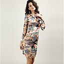 cheap Totes-Women's Skinny Bodycon Dress - Floral V Neck