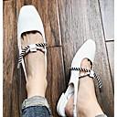 ieftine Sandale de Damă-Pentru femei Pantofi PU Vară Confortabili / Pantof cu Berete Sandale Toc Jos Alb / Negru / Rosu