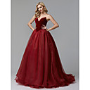 cheap Wedding Wraps-Ball Gown Strapless Sweep / Brush Train Tulle / Velvet Prom / Formal Evening Dress with Cascading Ruffles by TS Couture®