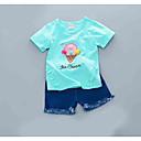 ieftine Set Îmbrăcăminte Bebeluși-Bebelus Fete Geometric / Imprimeu Manșon scurt Set Îmbrăcăminte