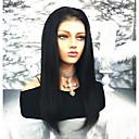 ieftine Peruci Păr Uman-Păr Remy Față din Dantelă Perucă Păr Brazilian Drept Perucă 130% Linia naturală de păr / Cu noduri albite Pentru femei Lung Peruci Păr Uman