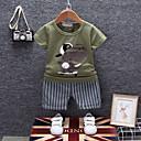ieftine Pantaloni Bebeluși-Bebelus Băieți Vintage Zilnic Albastru & Alb Mată / Geometric Plisată Manșon scurt Regular Regular In / Celofibră / Acrilic Set Îmbrăcăminte Alb 100 / Copil