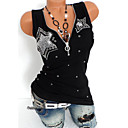 cheap Anklet-Women's Punk & Gothic T-shirt - Solid Colored Sequins